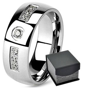 Other - Men's Wedding Anniversary Dome 8 mm Band CZ Ring